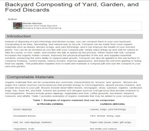 Cover photo for Backyard Composting