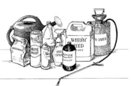 pesticide containers drawing