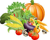 color clipart of vegetables