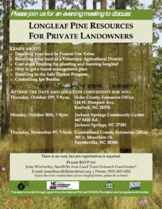 Cover photo for Longleaf Pine Resources for Private Landowners
