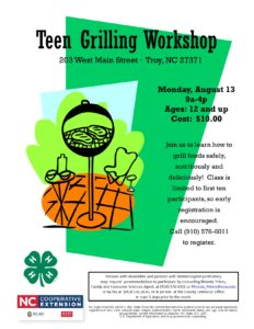 Cover photo for Teen Grilling Workshop