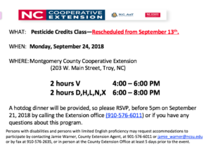 Cover photo for V and X Pesticide Credits Offered