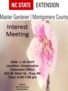 Cover photo for Montgomery County Master Gardener Interest Meeting