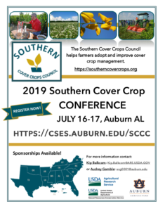 Cover photo for 2019 Southern Cover Crop Conference