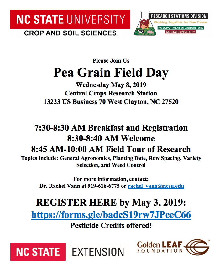 Pea Grain Field Day Flyer
