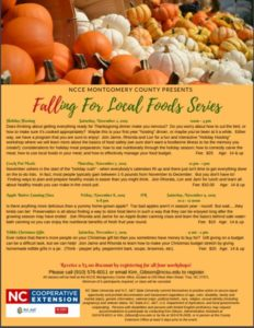 Cover photo for Falling for Local Foods Series Coming Up!