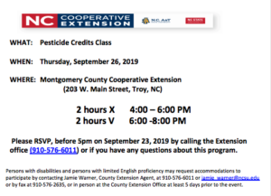 Cover photo for Pesticide Credit Recertification Class
