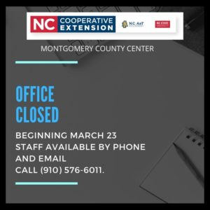 Cover photo for Montgomery Extension Center Closing to Public Beginning March 23 Until Further Notice
