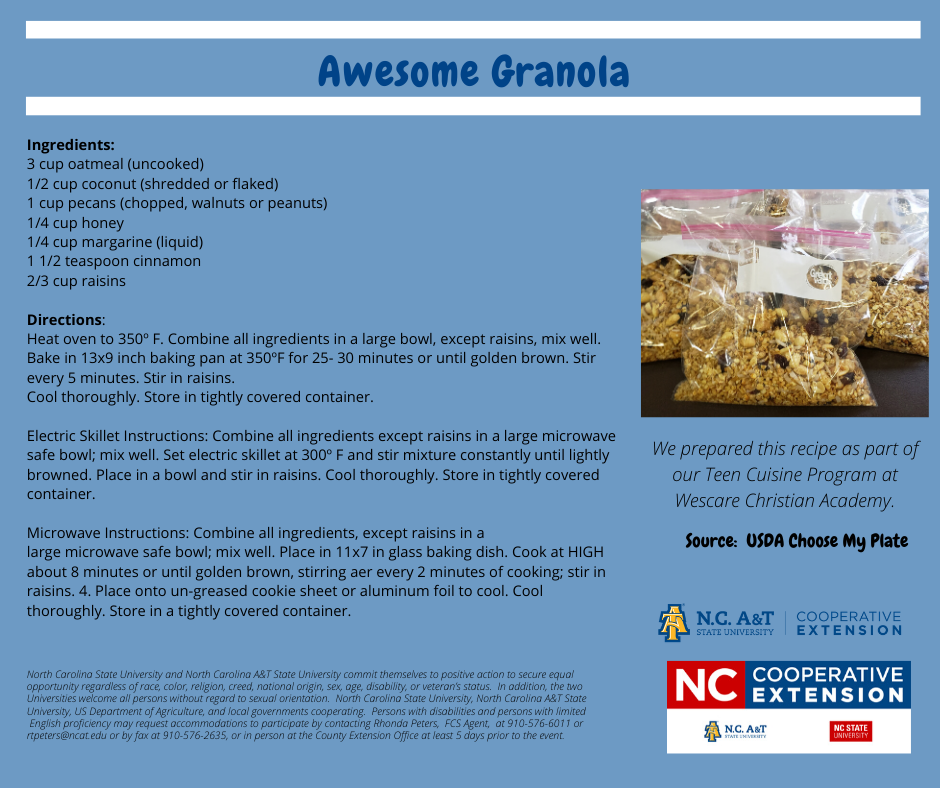 Awesome Granola recipe