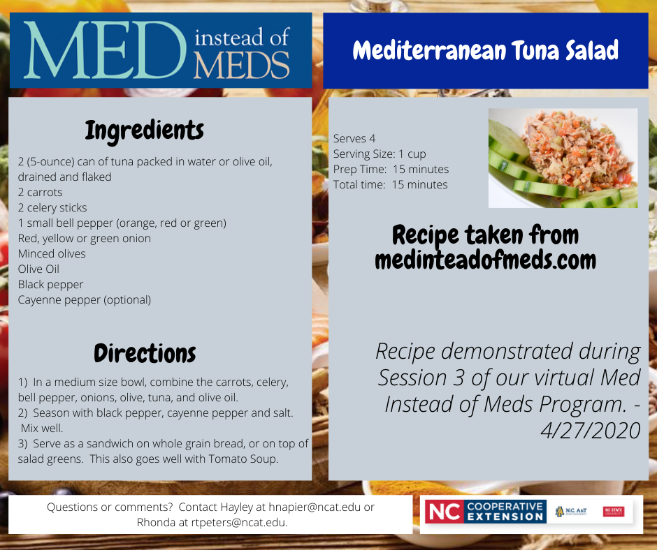 Mediterranean Tuna Salad recipe