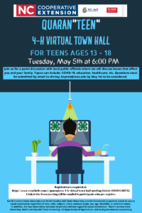 Cover photo for QUARANTEEN 4-H Virtual Town Hall Meeting
