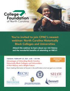Cover photo for CFNC Hosts HBCU Webinar