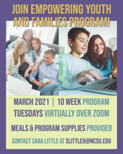 Cover photo for Register Today! Middle School Youth & Families Program