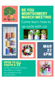 Cover photo for 4-H Be You Montgomery March Meeting