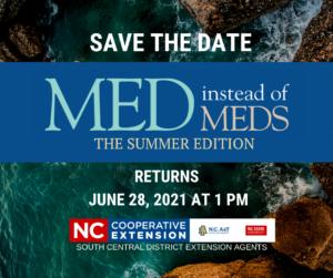 Cover photo for Med Instead of Meds Program Coming Up - FREE!!!!