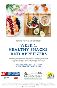 Cover photo for Recipe Round Up Week One:  Healthy Snacks and Appetizers