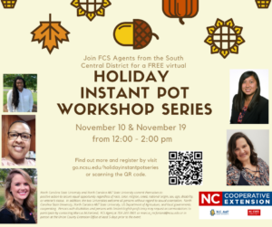 Cover photo for Holiday Instant Pot Classes Coming Up